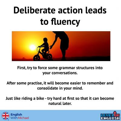 Grammar in Conversation Deliberate action