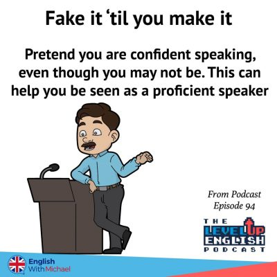 Fake confidence for English